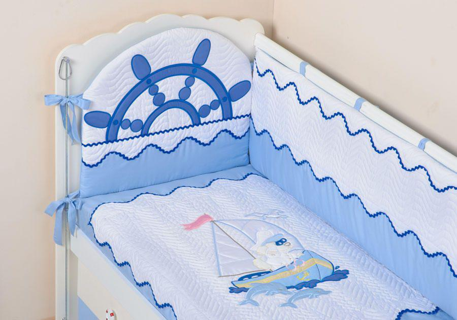 Как сшить детский комплект в кроватку для новорожденного