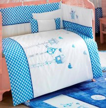 Комплект в кроватку Kidboo Lovely Birds Blue (6 предметов)