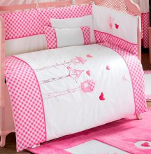 Комплект в кроватку Kidboo Lovely Birds Pink (6 предметов)