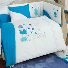Комплект в кроватку Kidboo Elephants Blue (6 предметов)