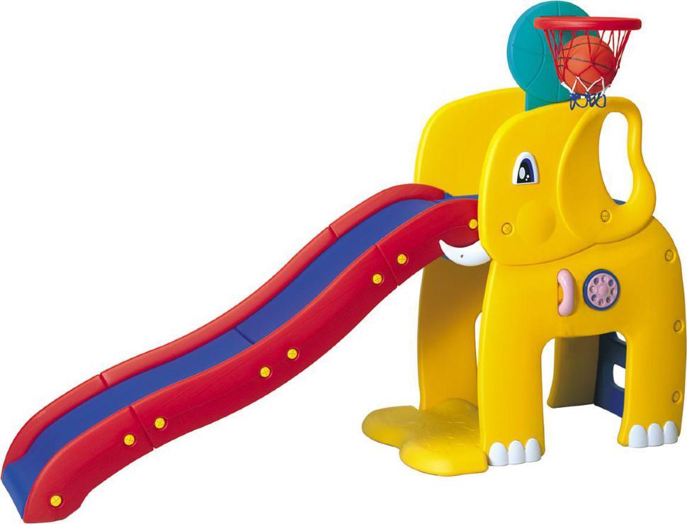 Горка детская слон haenim турник и брусья стационарные