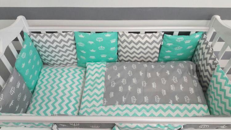 Бортики подушками своими руками 35