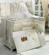 Комплект в кроватку Kidboo Honey Bear Linen (7 предметов)
