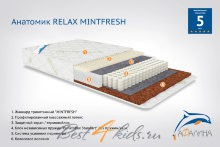Детский матрас Афалина Анатомик RELAX MINTFRESH